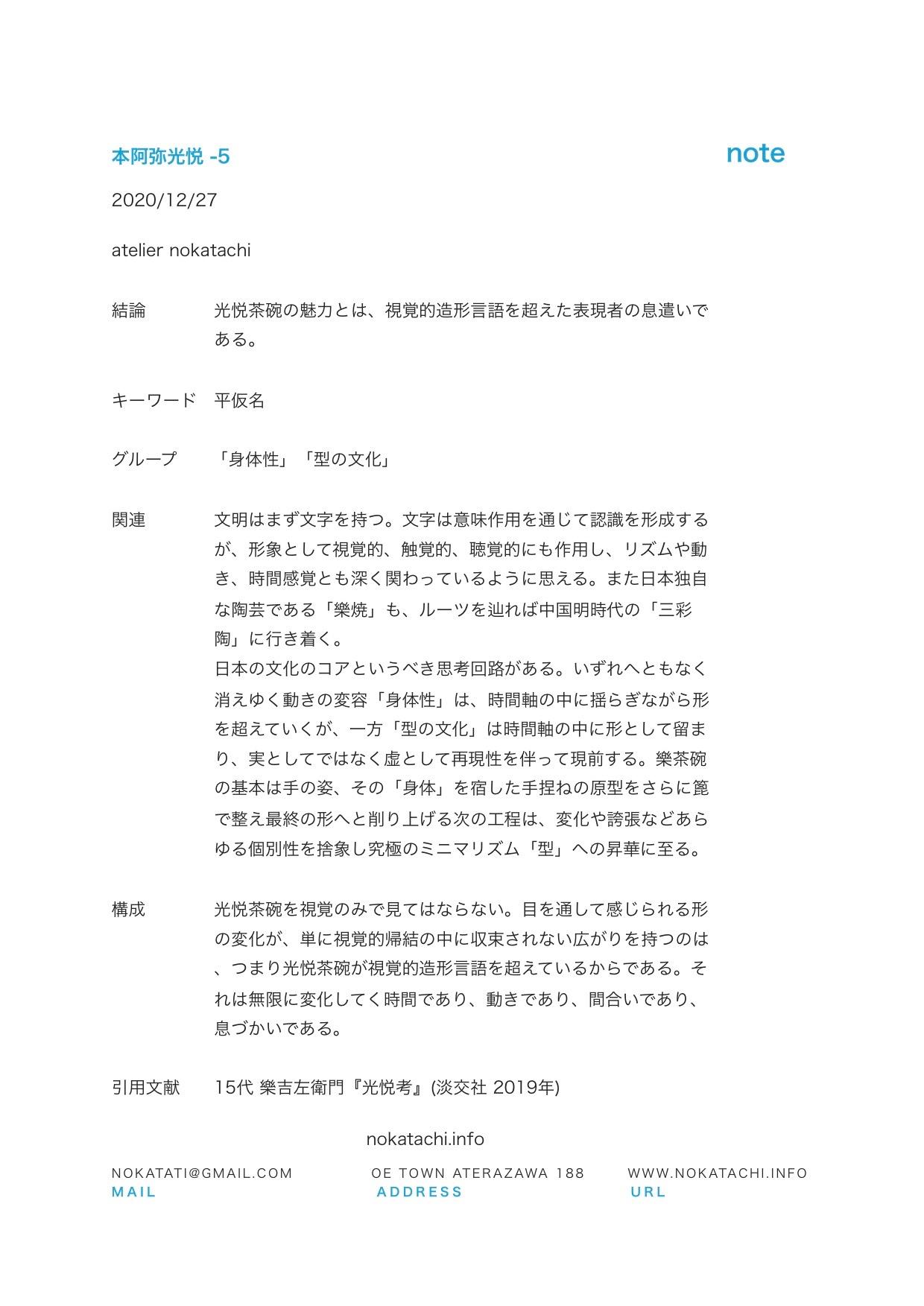 【レポート】光悦考−5