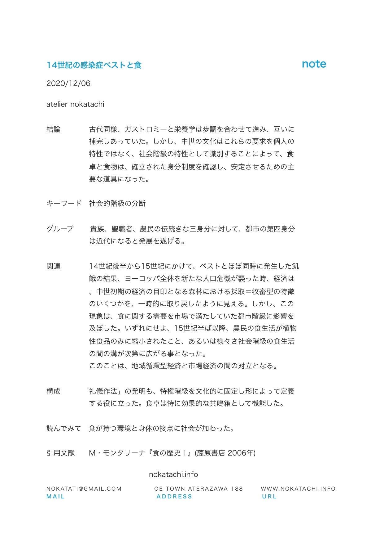 【レポート】ペストと食