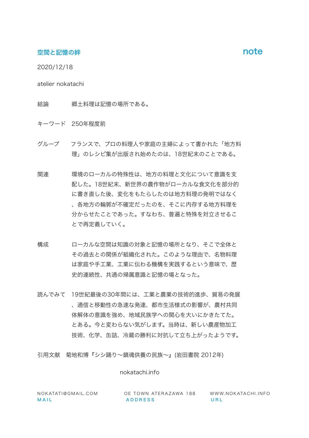 【レポート】空間と記憶の絆