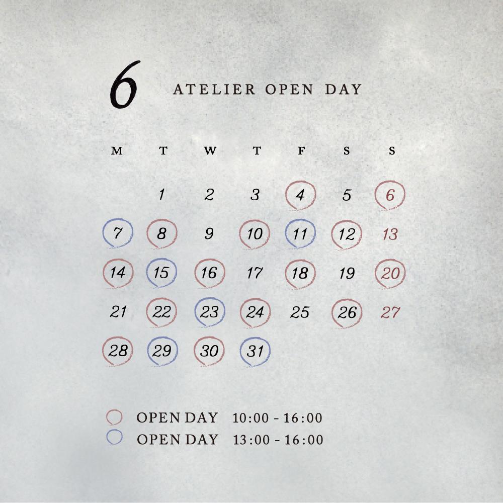 6月のアトリエ OPEN day