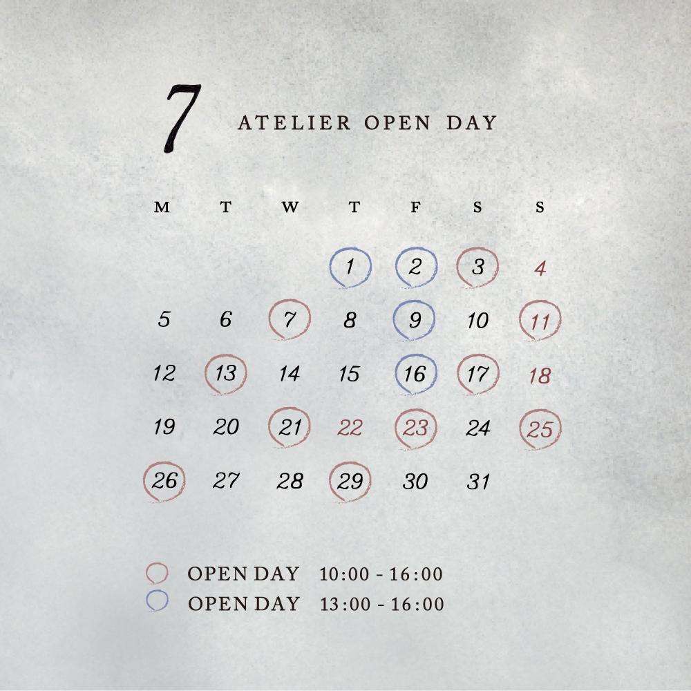7月のアトリエOPEN day