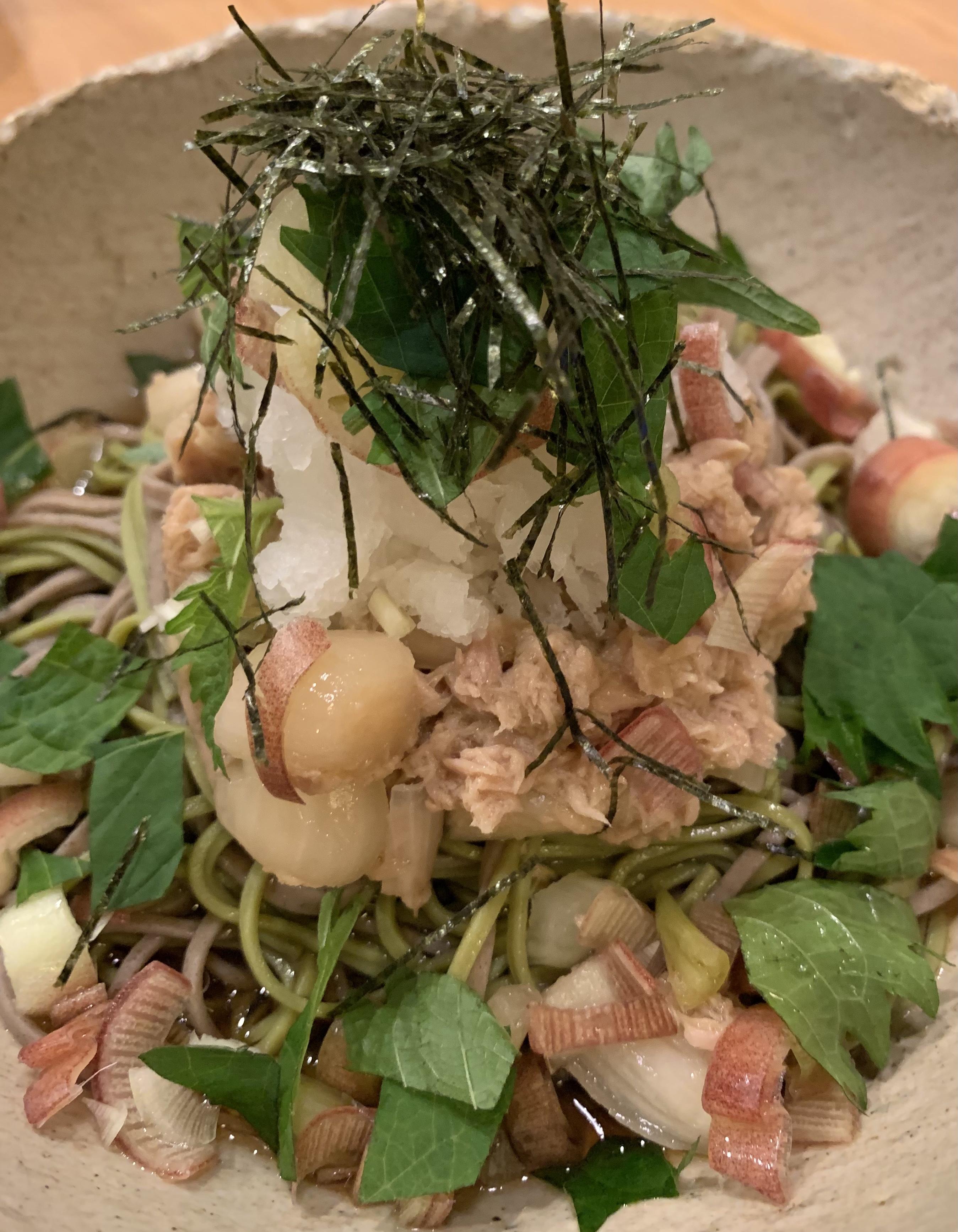 お蕎麦とオリーブオイル