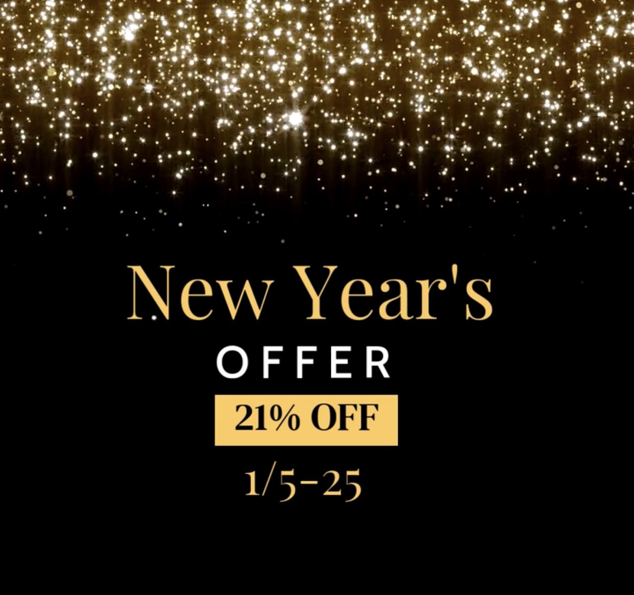 HAPPY NEW YEAR 2021 SALE (1/5-25)
