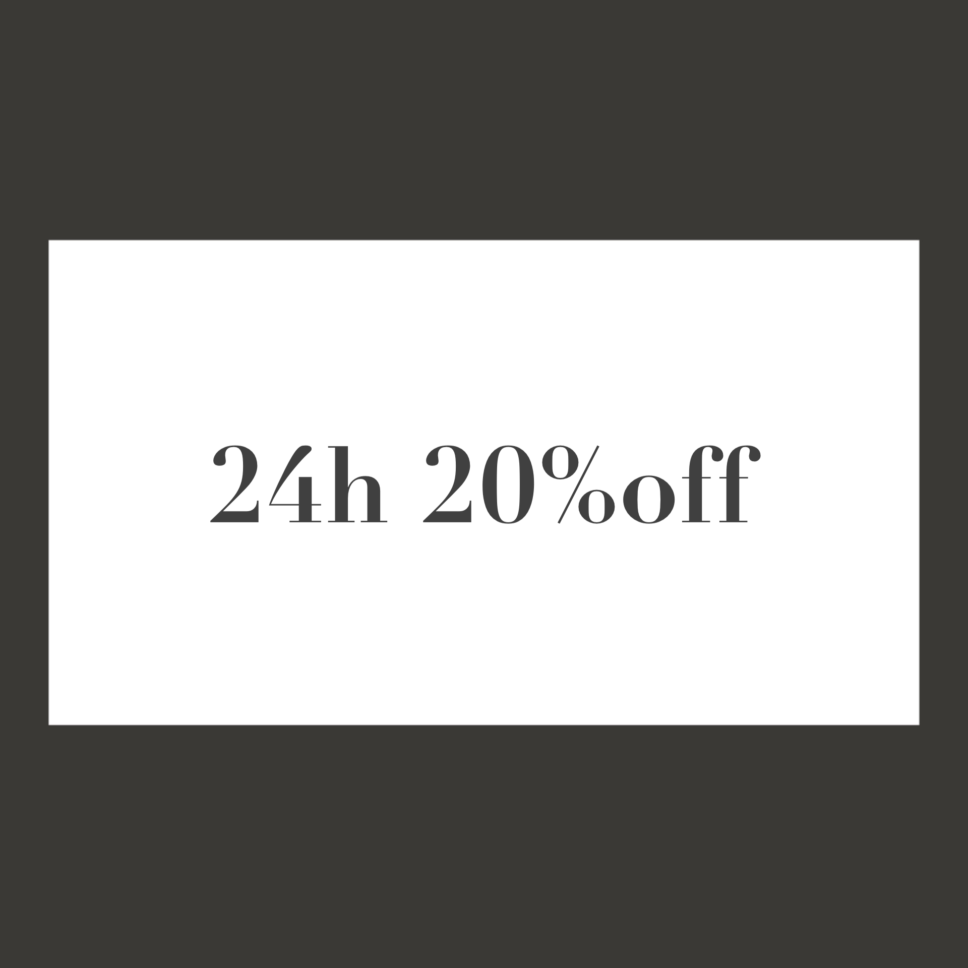 24h limited 20%off