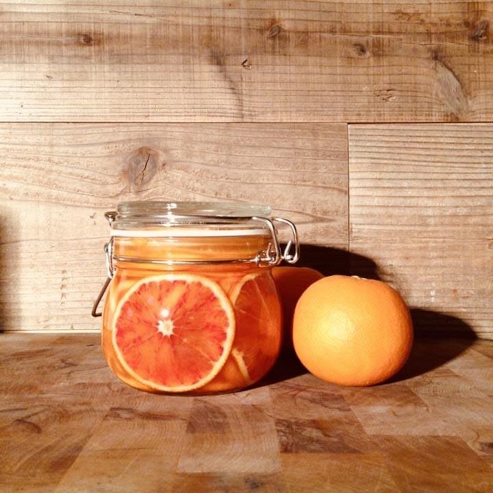 「ブラッドオレンジシロップ煮」