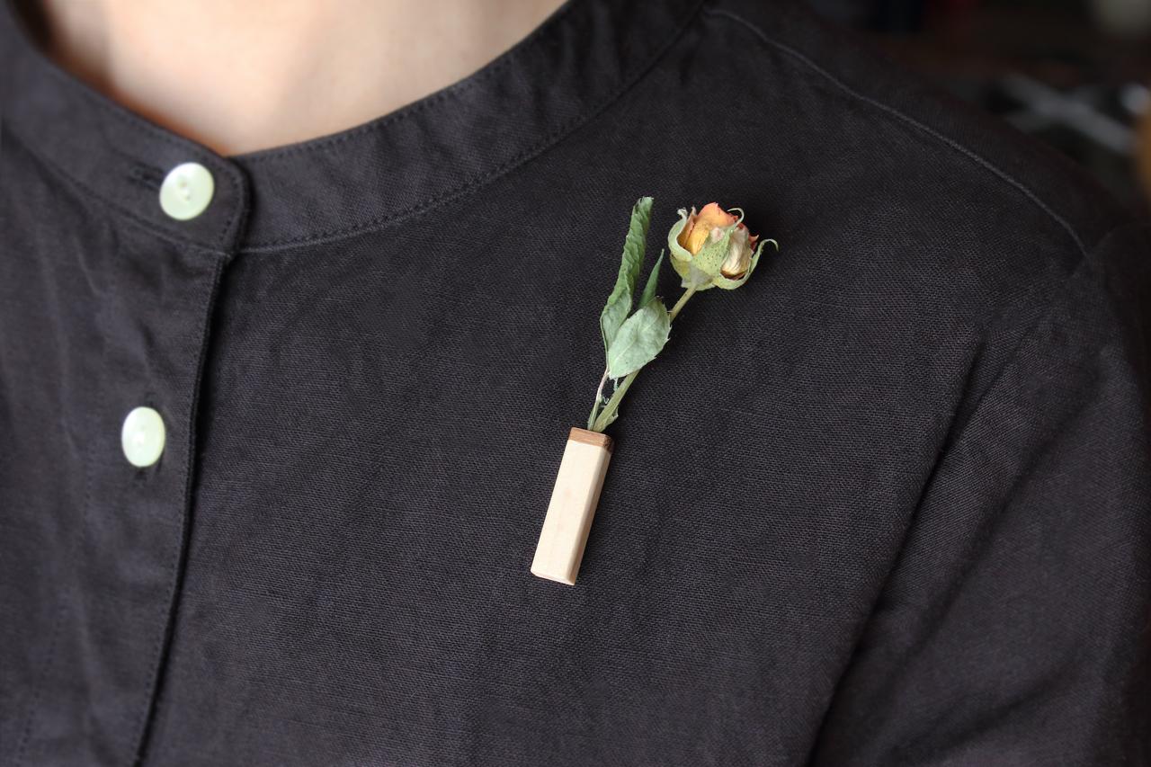 【Vase】胸元に好きなドライフラワーを
