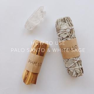 HOW TO USE PALO SANTO & WHITE SAGE