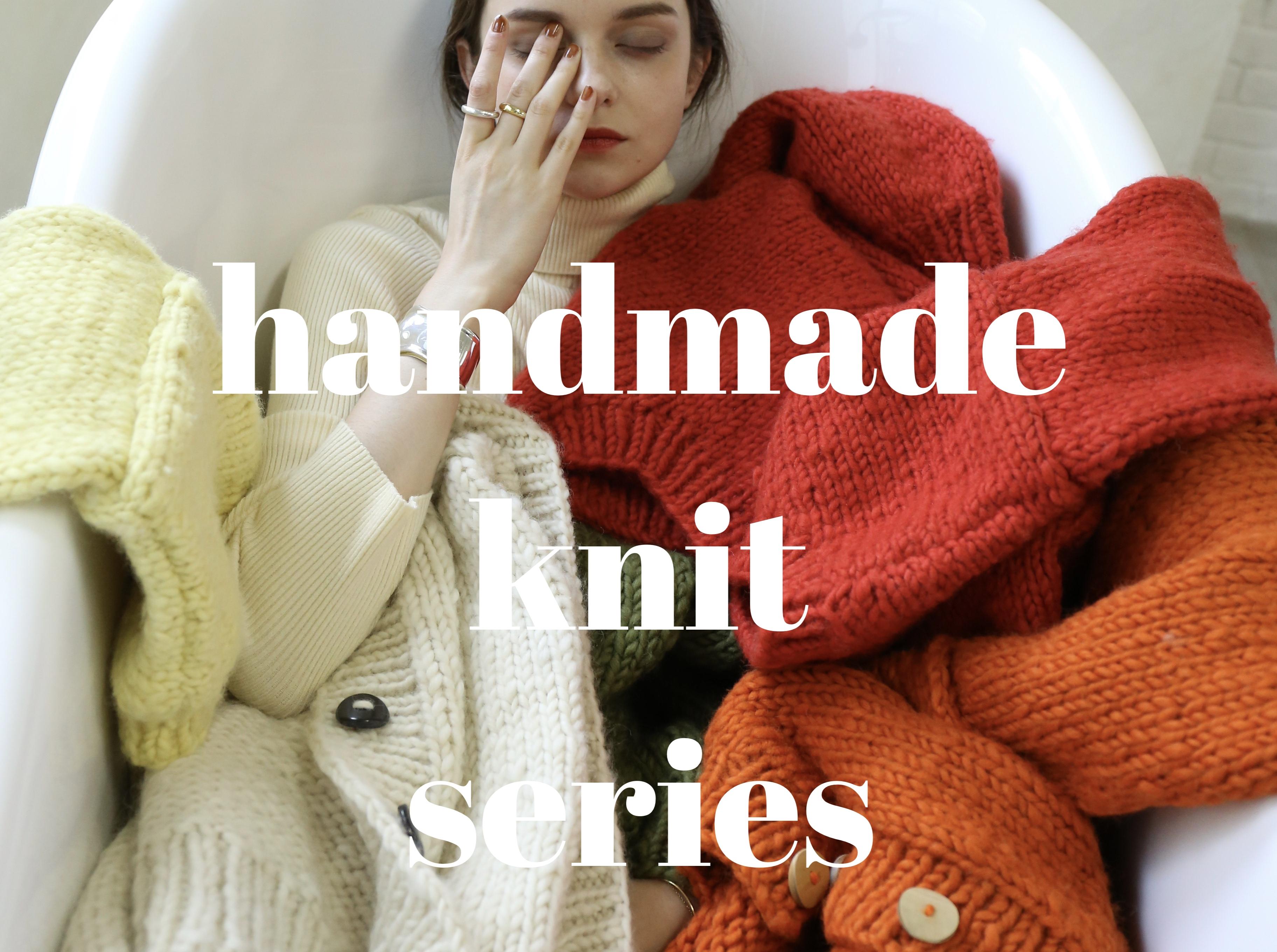 handmade knit series