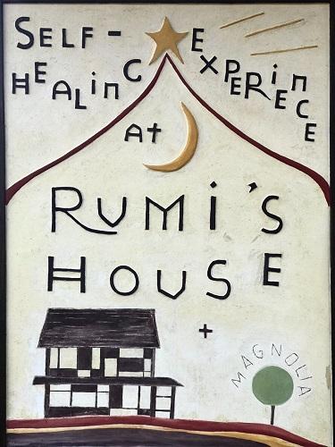 Rumi's House 漆喰看板