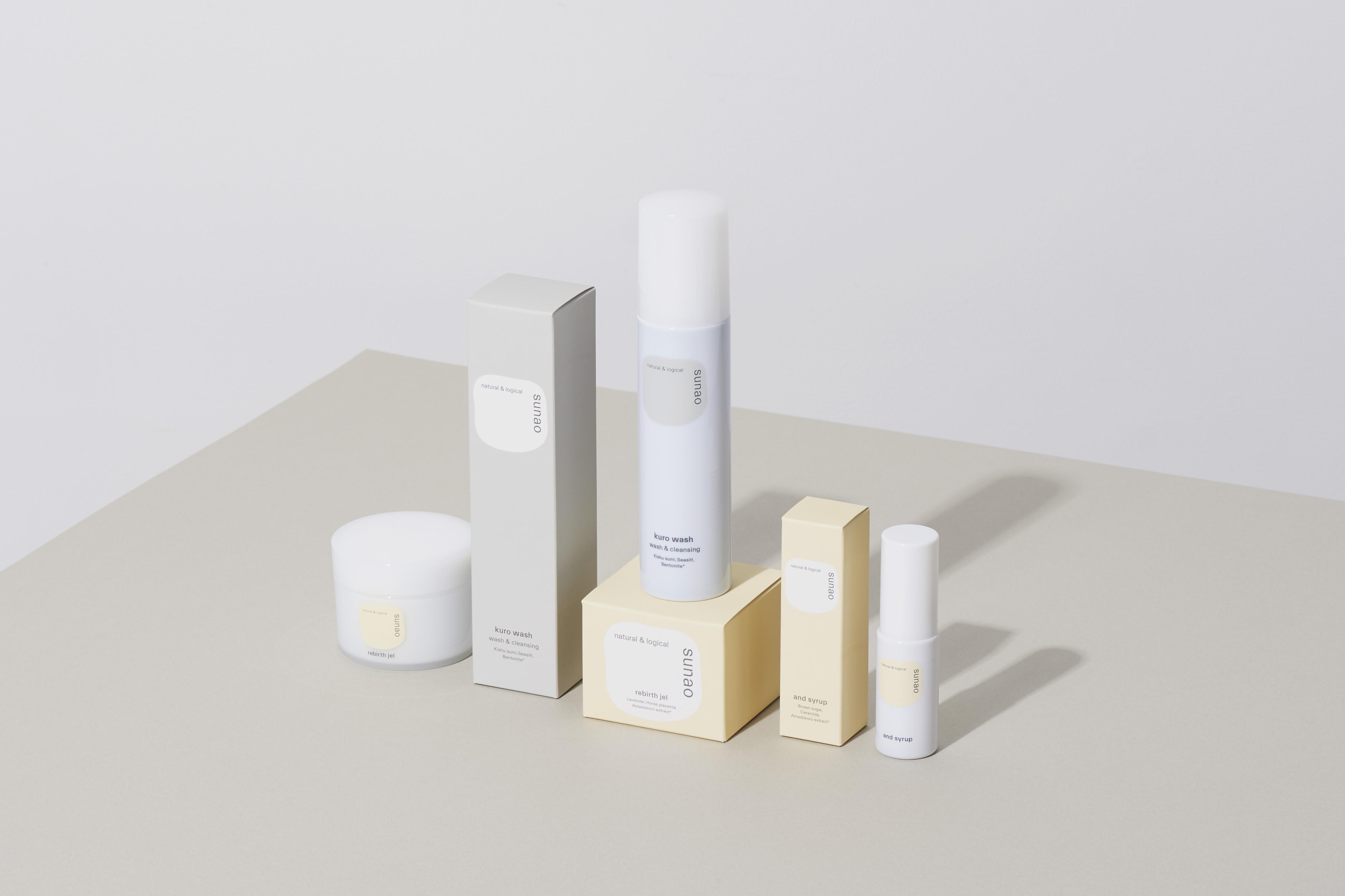 「sunao」のブランドロゴ&パッケージがリニューアルしました