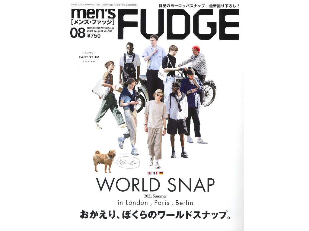 【掲載情報】「men's FUDGE 8月号」にフォーエバーシャインコンディショナーが掲載されました