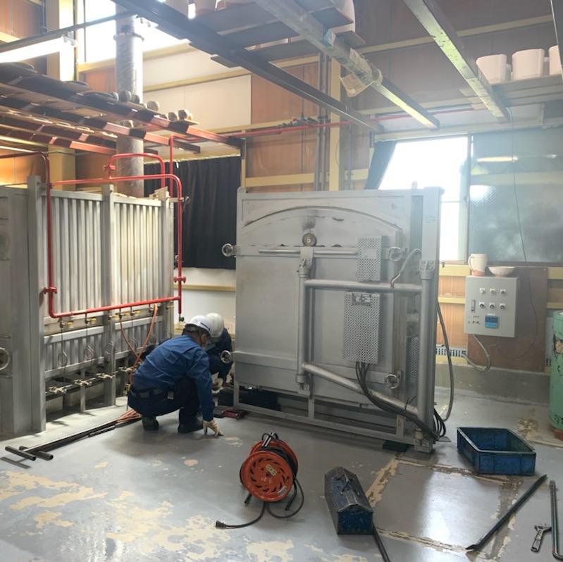 電気炉の移設