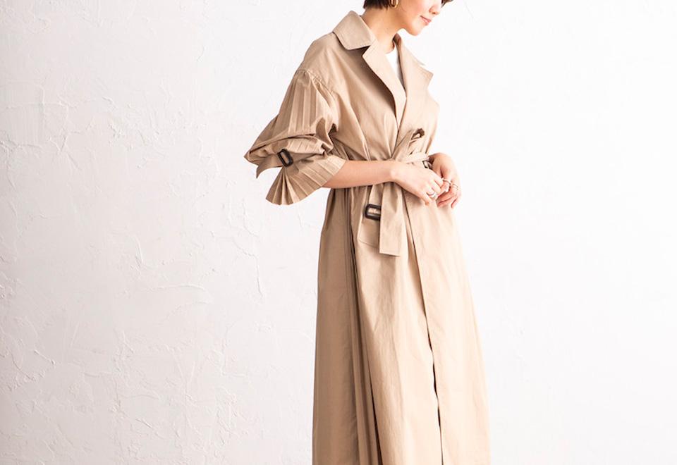 PICKUP『Side Pleated Coat』