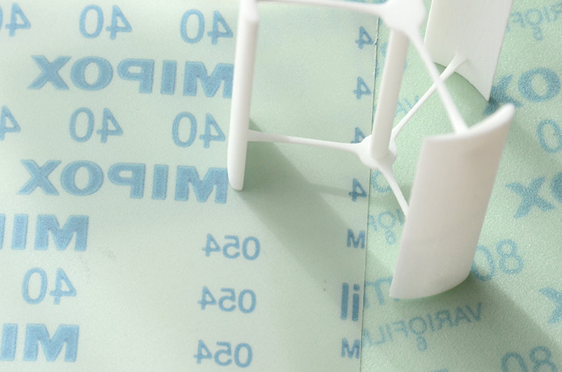 SLS方式でプリントされたナイロン素材をTuneD3で研磨し滑らかに