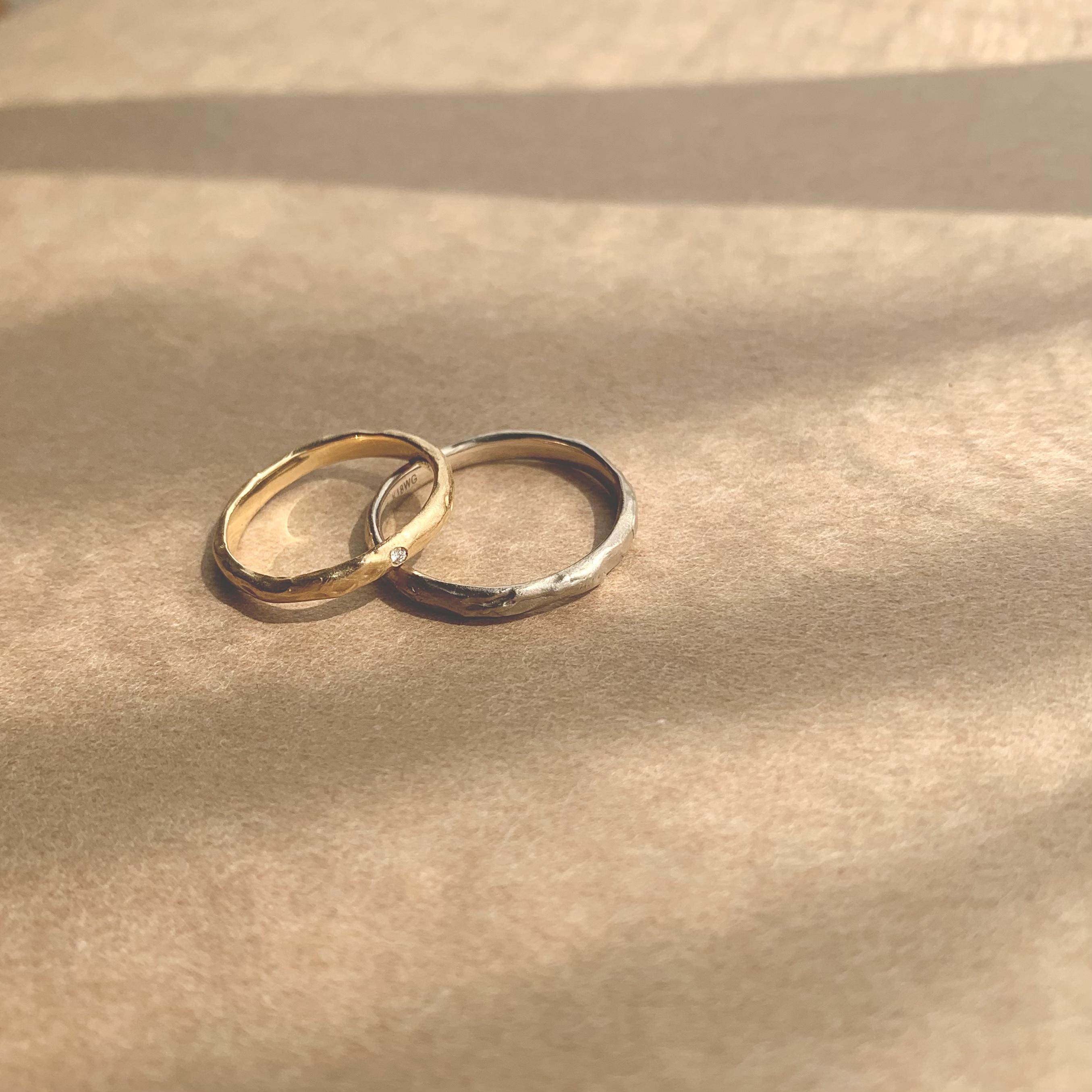 木漏れ日を纏って。結婚指輪「Mango tree」