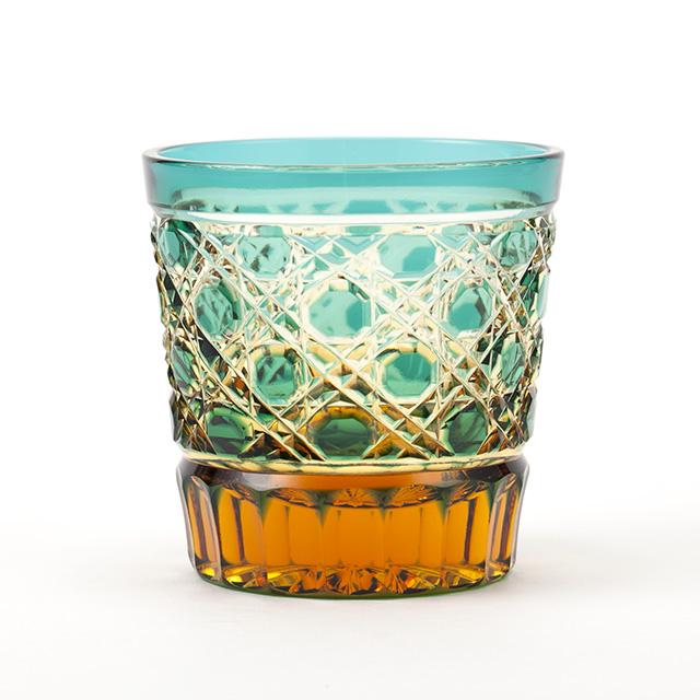 江戸切子 酒グラス ミニロック クリスタルガラスのぐい吞のご紹介