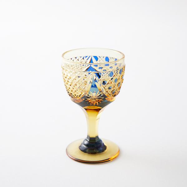 江戸切子の店 クリスタルガラスの食前酒グラスの新規追加をしました。