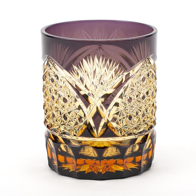 江戸切子の店 琥珀色の紫色 クリスタルガラスのロックグラス販売終了のお知らせ