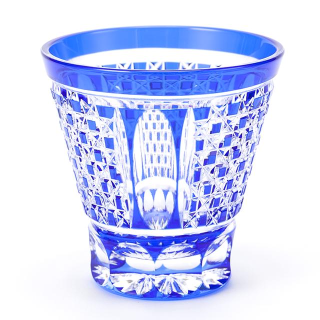 江戸切子 市松模様のロックグラス