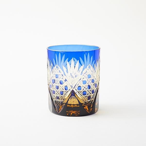 江戸切子の店 琥珀色のロックグラスは残り3点販売終了