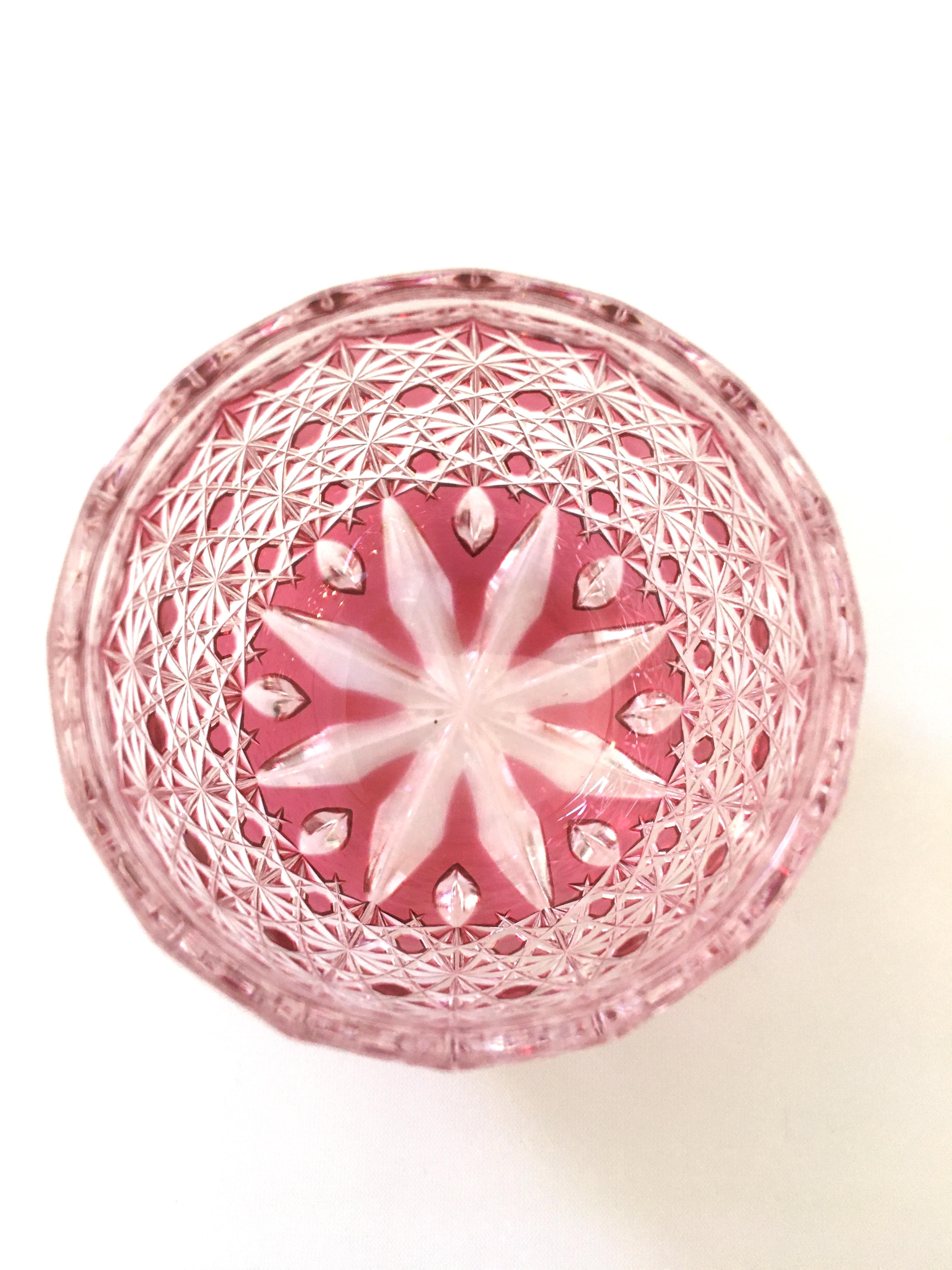 江戸切子の店 琥珀色金赤被せ クリスタルガラス ぐい吞(蕾)が品切れになりました