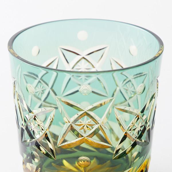 江戸切子のクリスタルガラスロックグラス