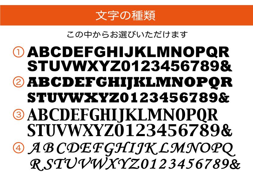 【壁掛けアルファベット】の文字種類確認ページはこちら