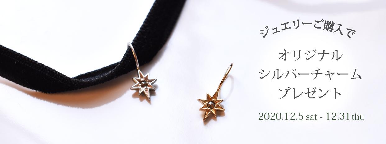 【ジュエリーご購入で】オリジナルシルバーチャームプレゼント!