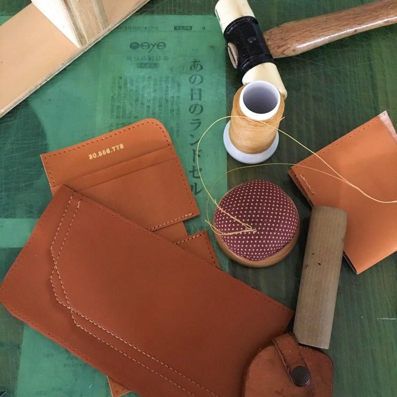 ランドセルの素材から財布を製作しました。