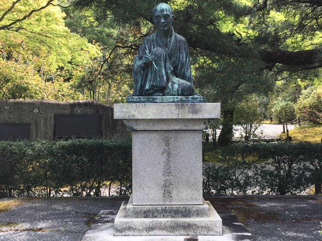 春に宮崎友禅斎像を撮影しに1人で京都に行きました。