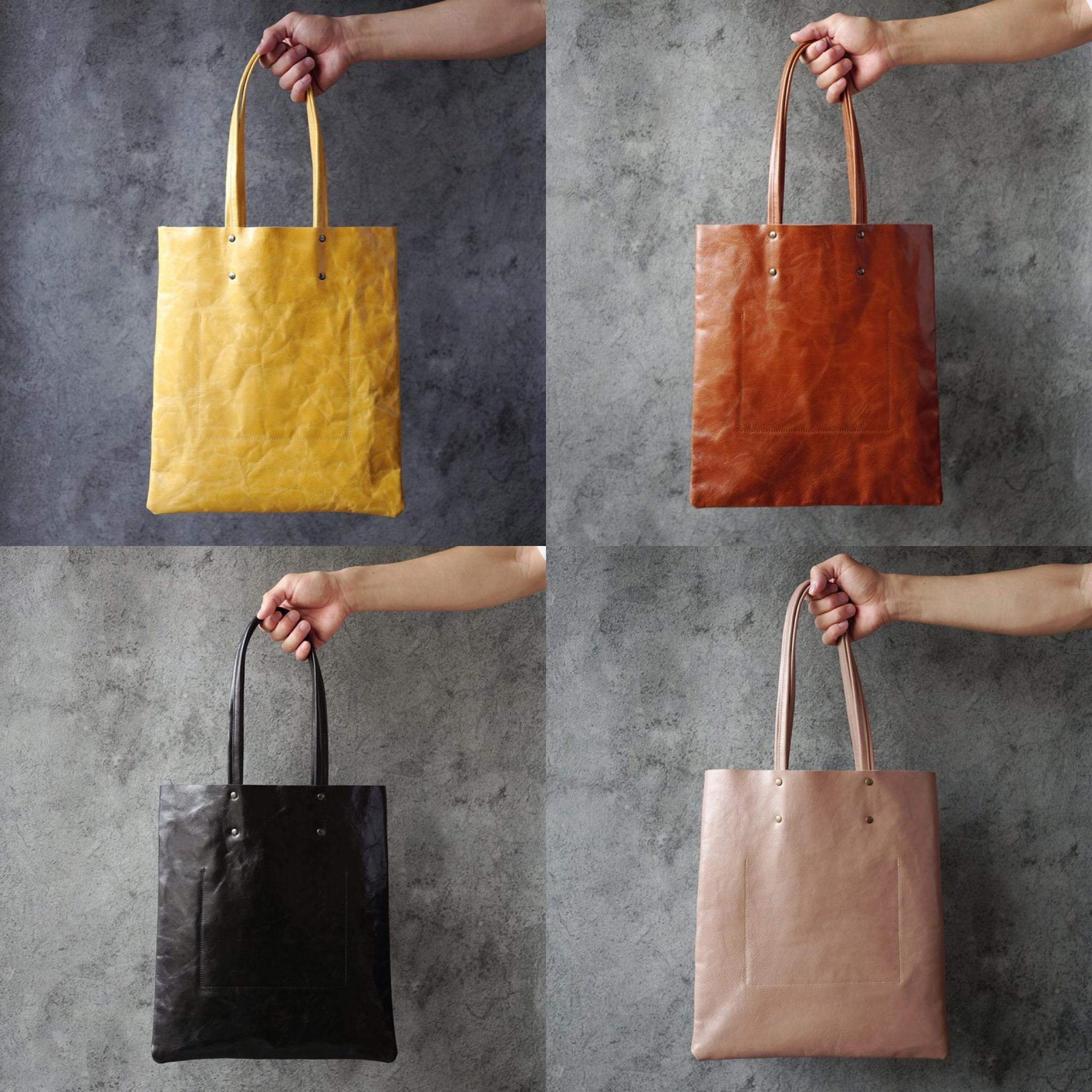 ゴートのトートバッグ(受注生産)は気軽に持てるレザーバッグです。