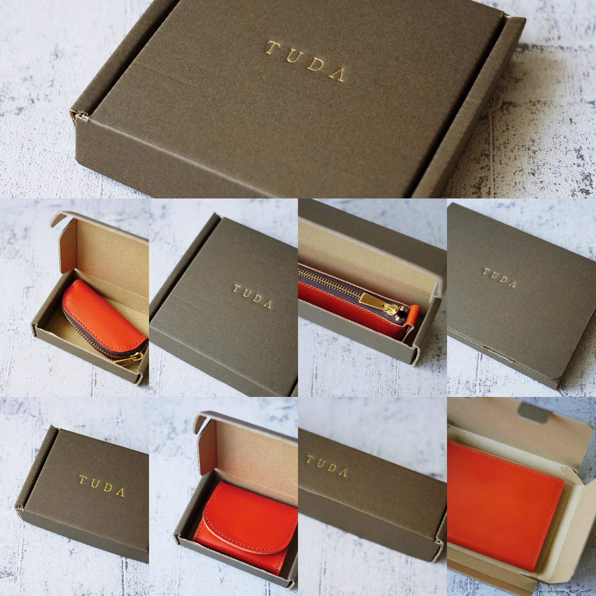 革小物にはギフトにも最適な箱をご用意しております。