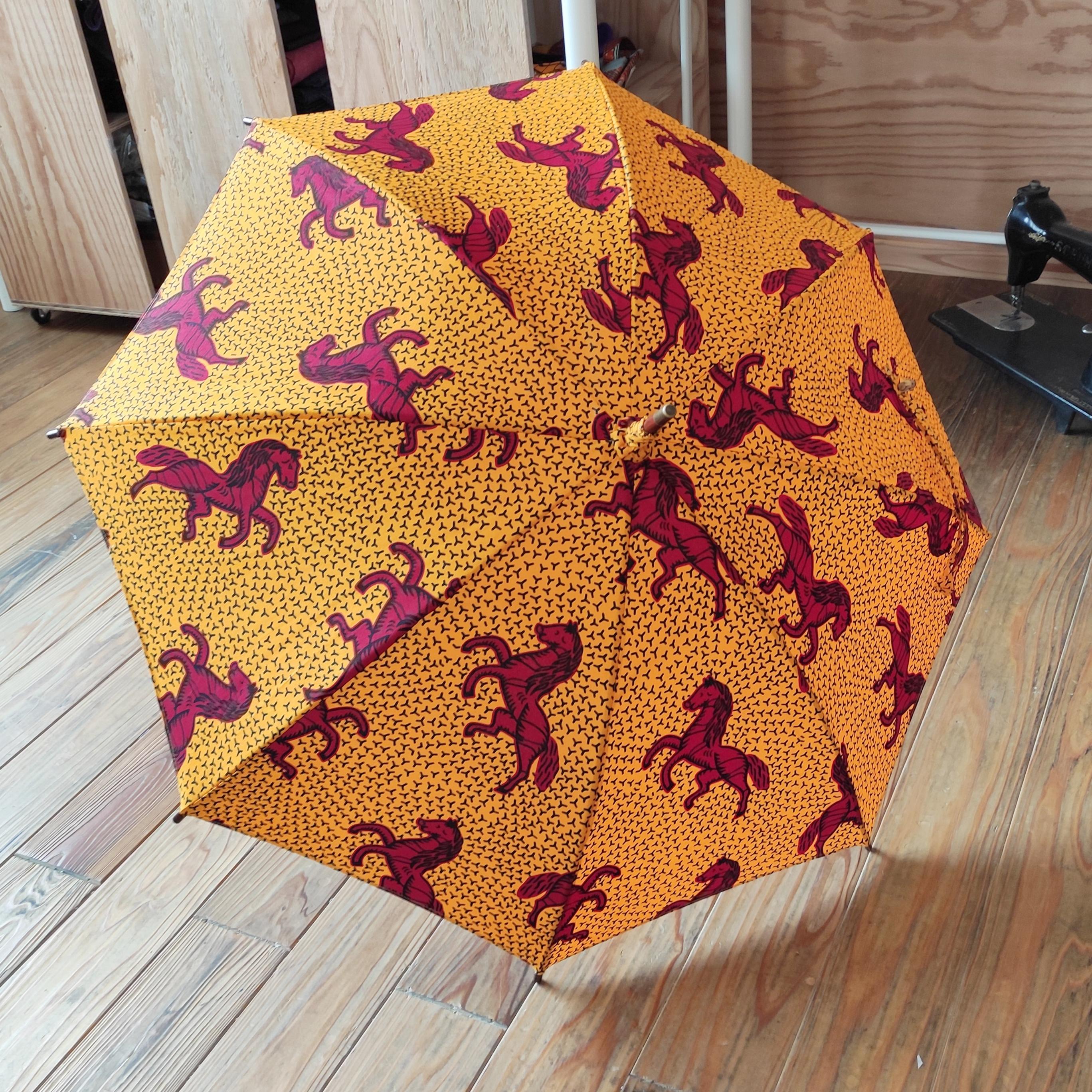 アフリカンファブリック  職人日傘新作入荷しました。