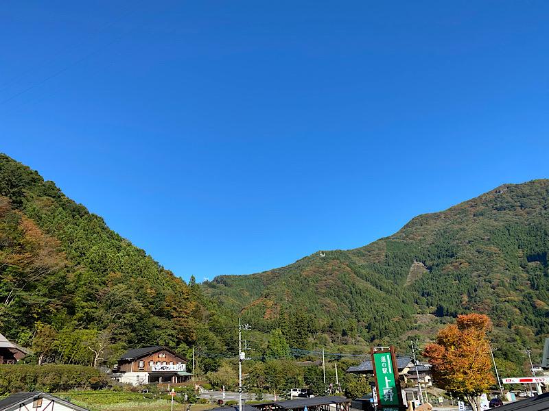 上野村紅葉が始まりました。