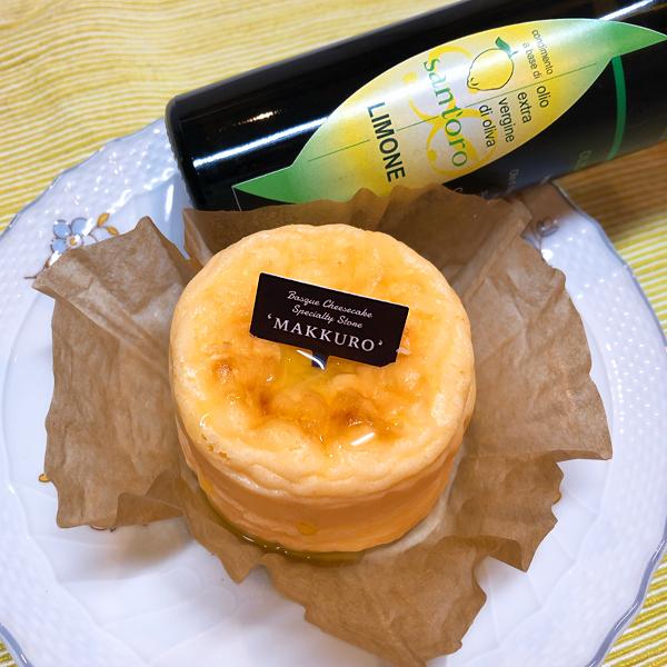 チーズケーキにSant'OroのE.V.オリーブオイル レモンで美味しい!