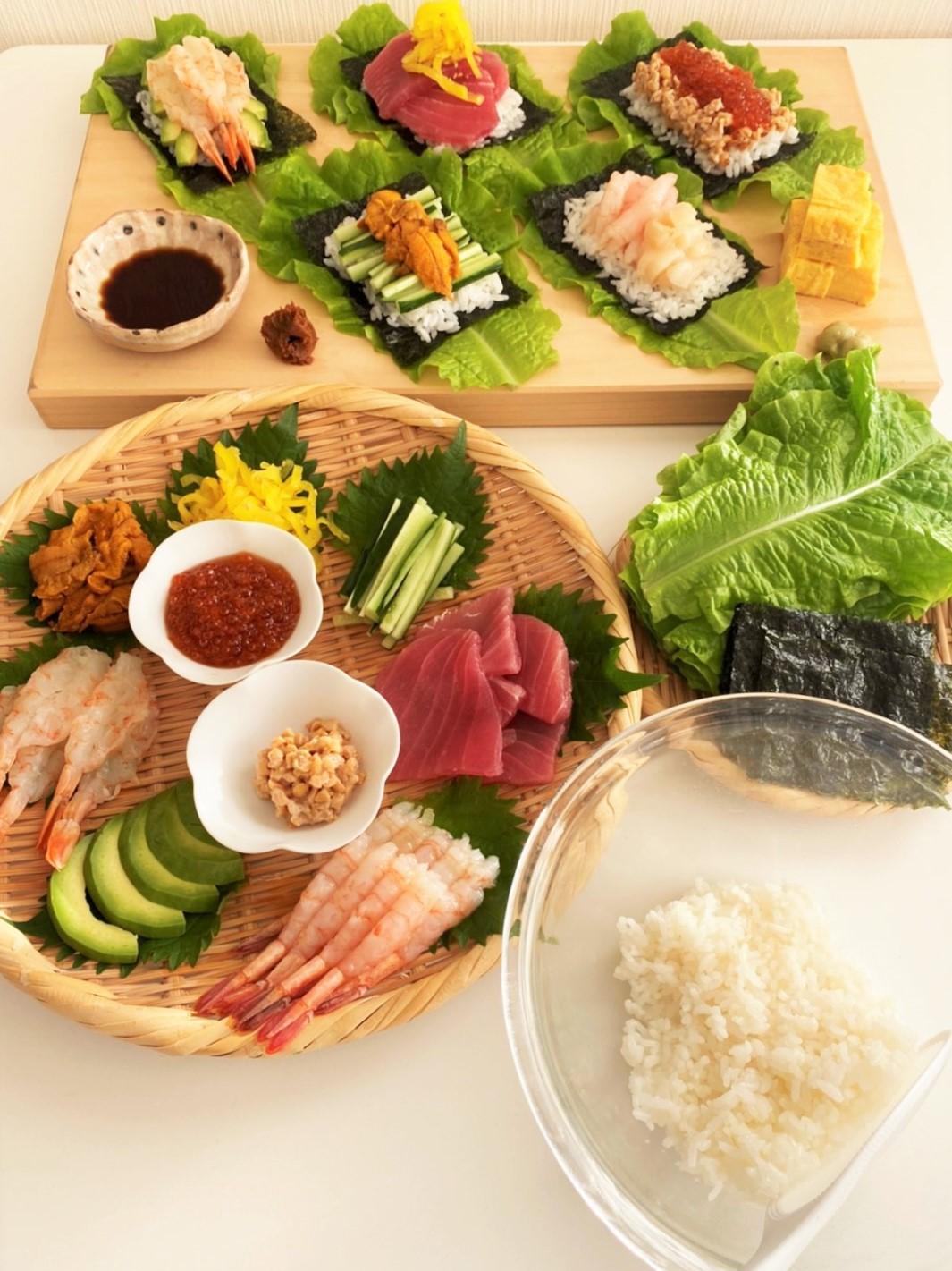 「漁師さん応援プロジェクト」で作る、お家で簡単、お寿司・手巻き寿司のアイデアレシピをご紹介!