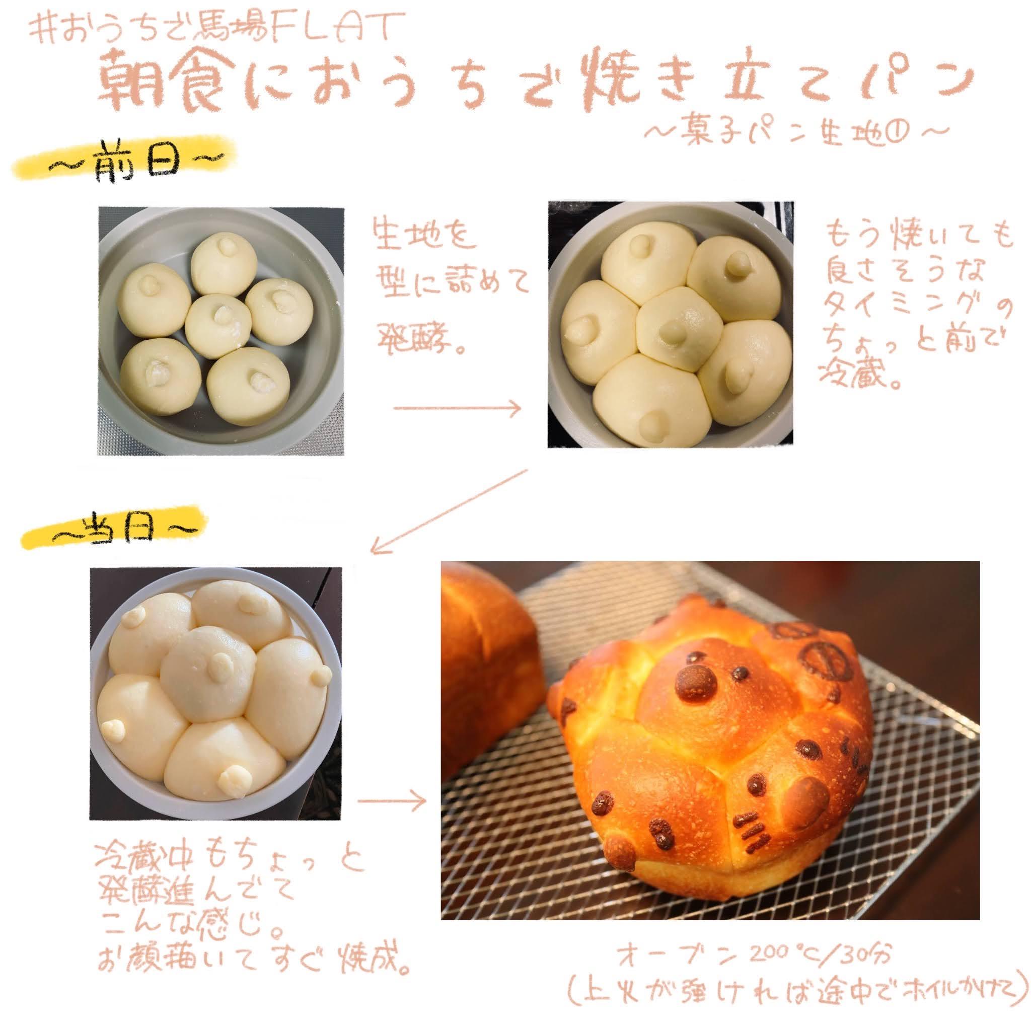 朝食に焼き立てのパンを食べる方法(菓子パン編)