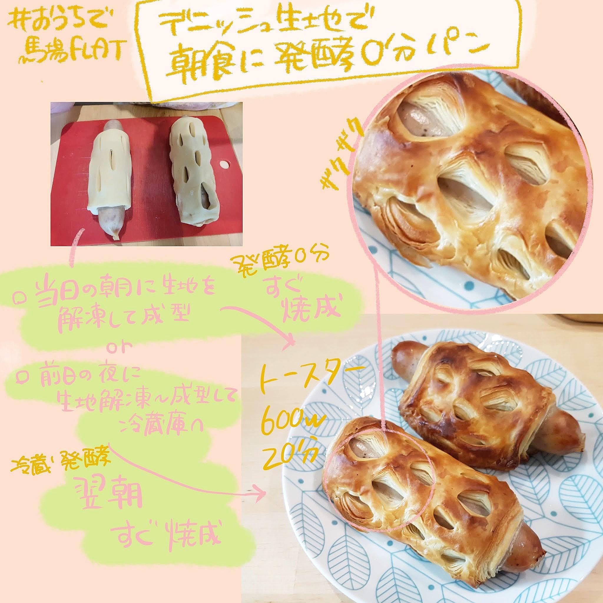 朝食に焼き立てのパンを食べる方法(デニッシュ編)