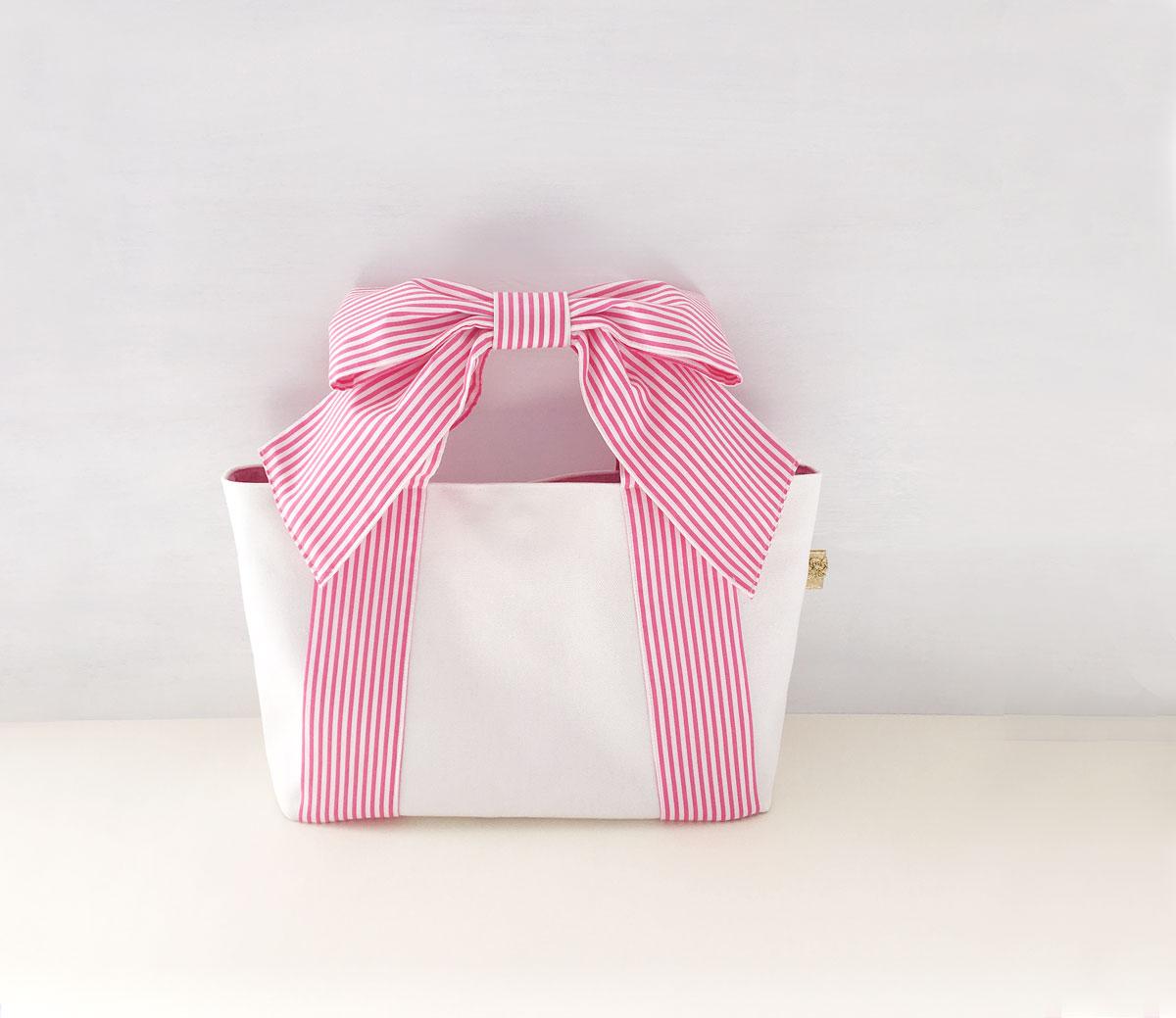 リボントート♪ ピンク&水色、春夏verアップしました
