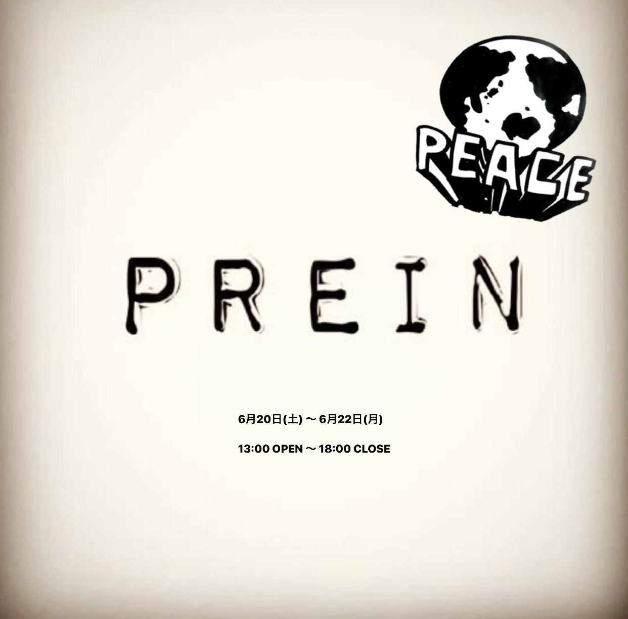 PREIN × PEACE  POP UP