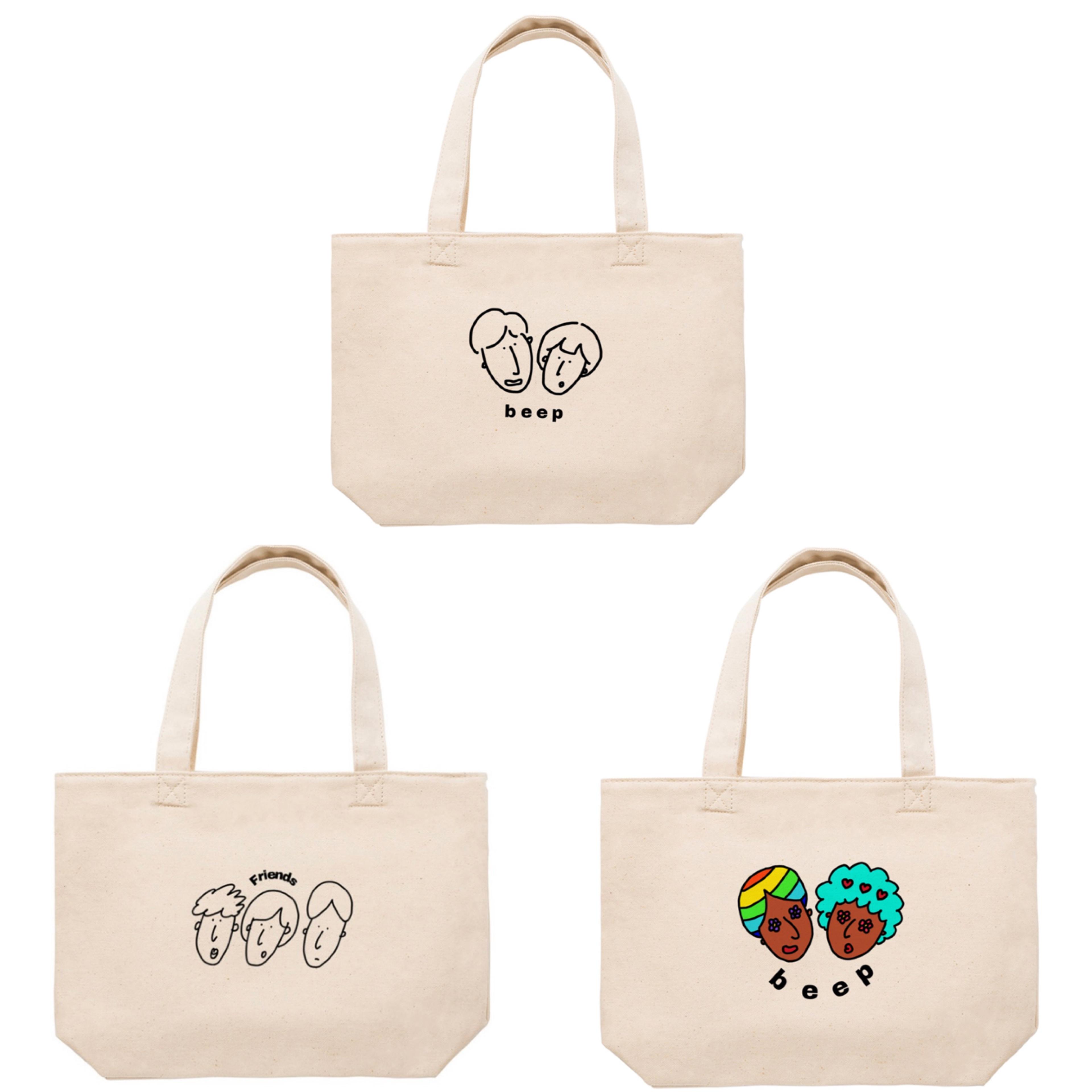 beep × PONA  ワンポイントが可愛い♡どんな場面でも使いやすいミニトートバッグ