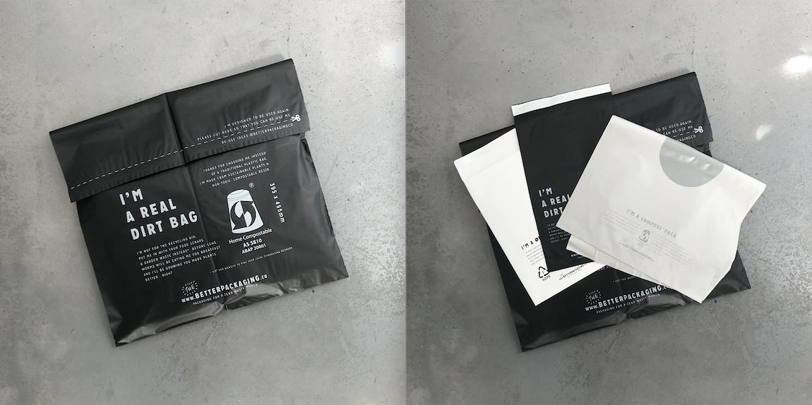 100%コンポスト可能な梱包材を導入しました。