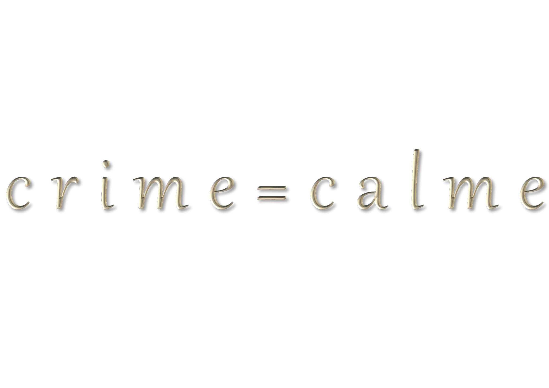 クリム=カルム - théâtrale du crime=calme -