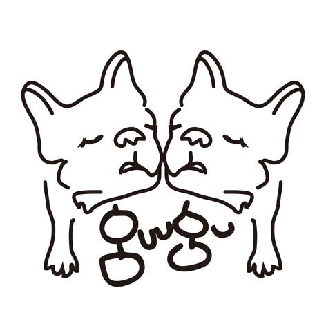 guugu・フレンチブルドッグ服・藍染め