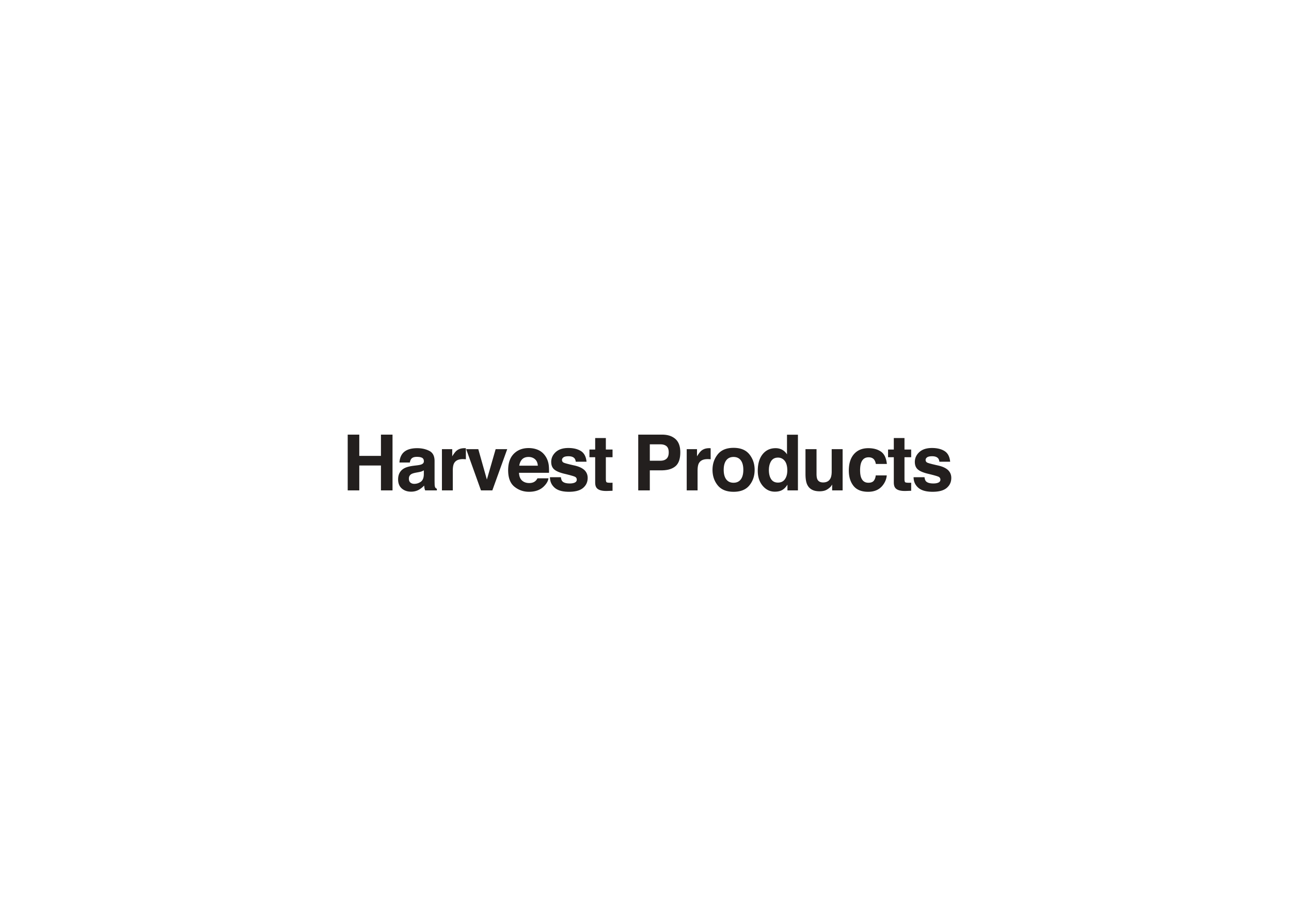 Harvest Products