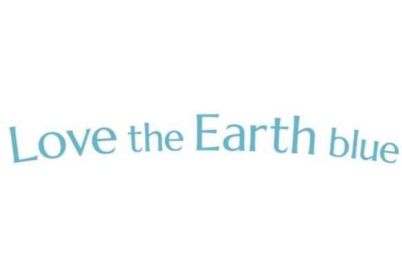 Love the Earth blue