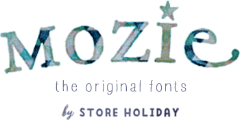 mozie the original fonts by STORE HOLIDAY