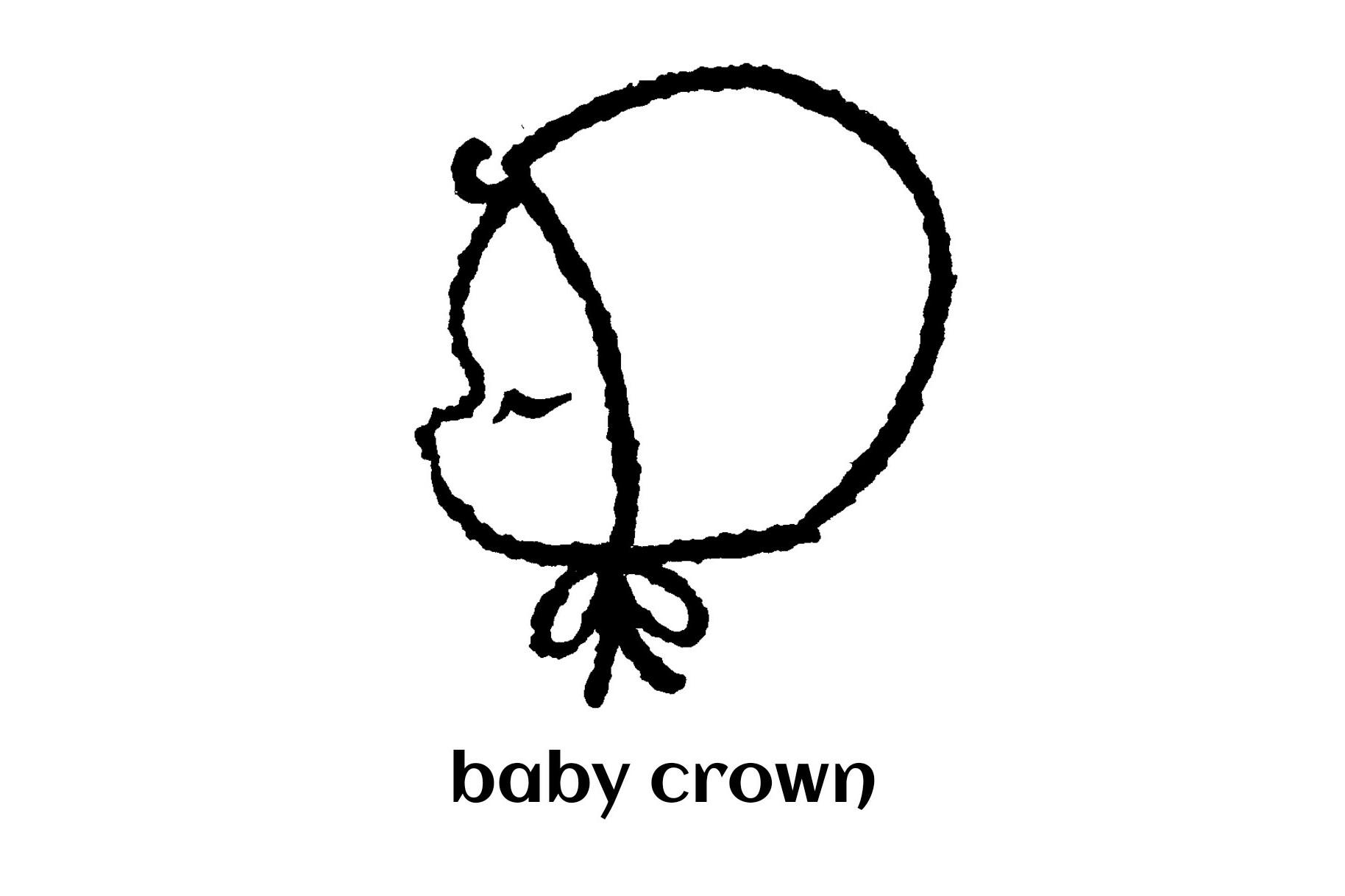 babycrown【ベビーボンネット 】【ニットボンネット】