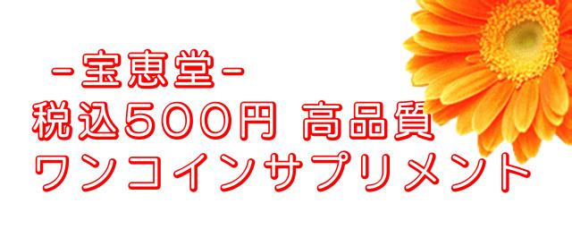 宝恵堂 税込500円ワンコインサプリ