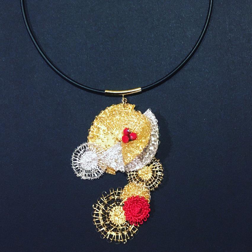 〈necklace〉 brand:ICHIHARU title:『月鏡』(moon mirror)  size:14 inch